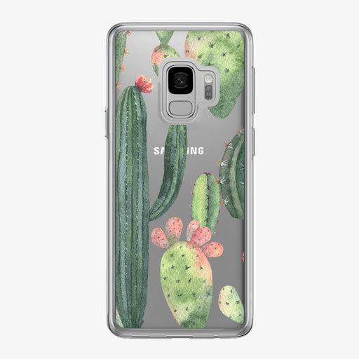 Prickly Cactus Pattern Clear Samsung Galaxy Phone Case from Tiny Quail