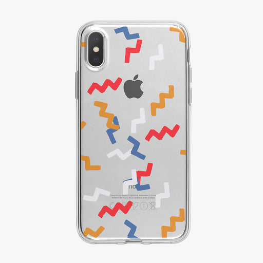 Twisted Confetti Pattern Clear iPhone Case from Tiny Quail