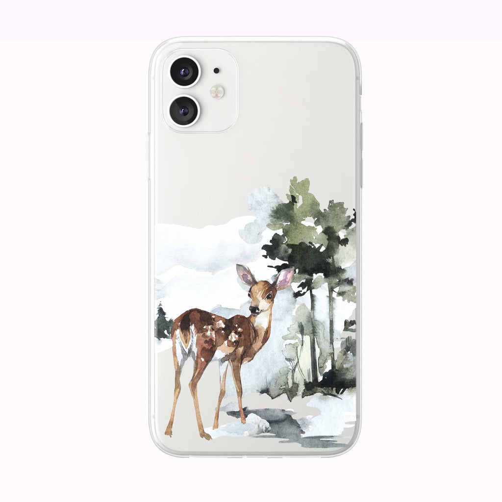 Watercolor Forest Fawn iPhone Case from Tiny Quail
