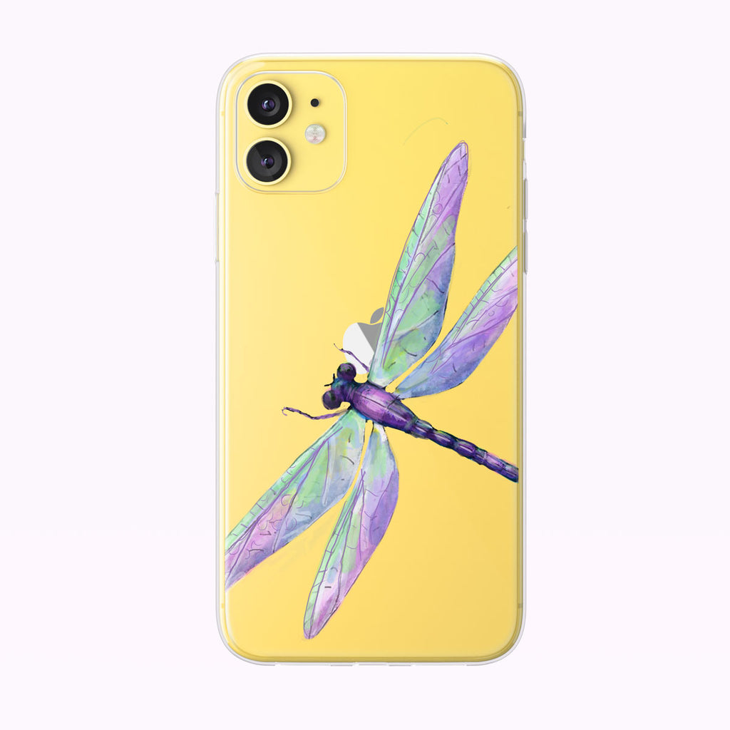 Beautiful Dragonfly Clear iPhone Case from Tiny Quail