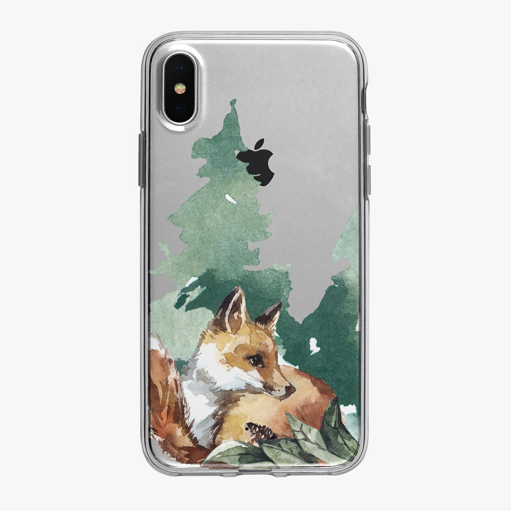Cute Forest Fox  iPhone Case from Tiny Quail