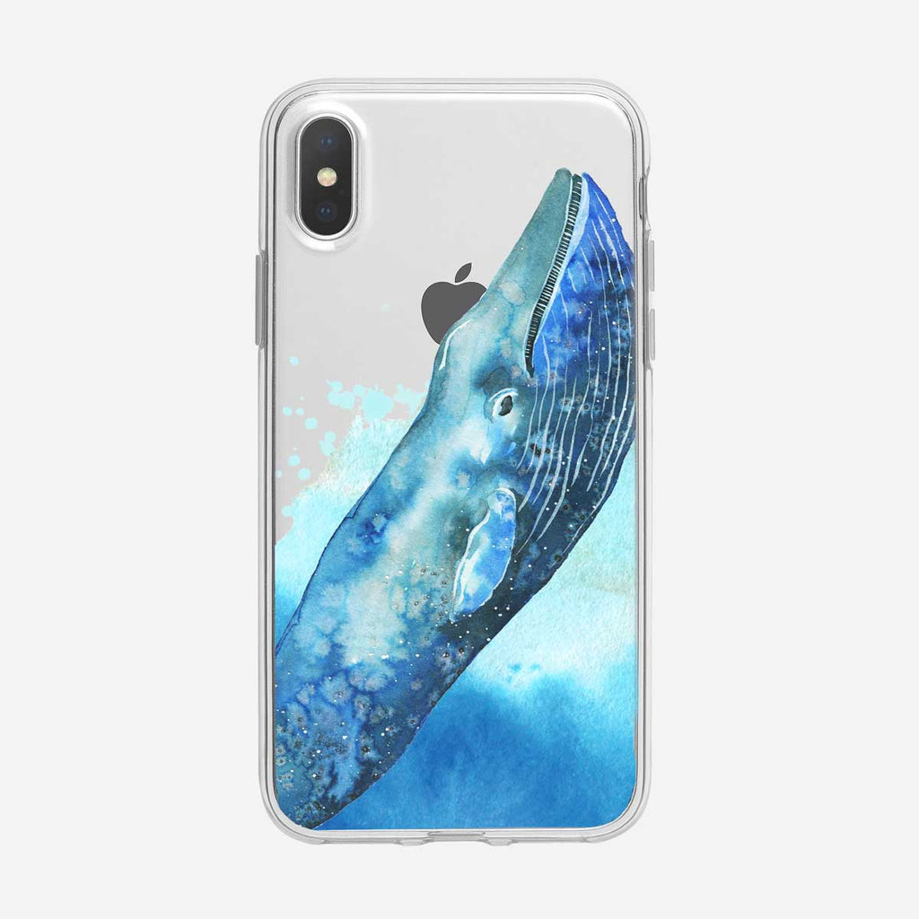 Blue Whale Breaching iPhone Case from Tiny Quail