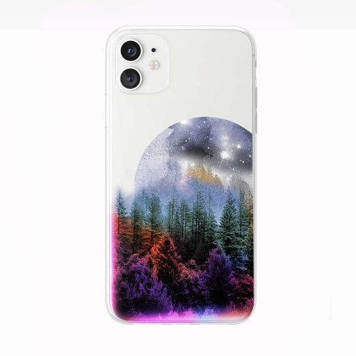 Evening Forest Moon Rise iPhone Case from Tiny Quail