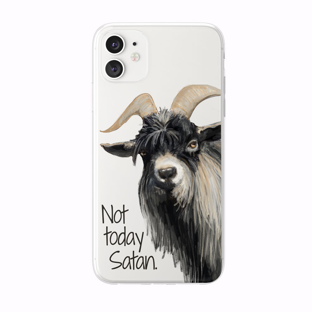 Not Today Satan Goat iPhone Case from Tiny Quail
