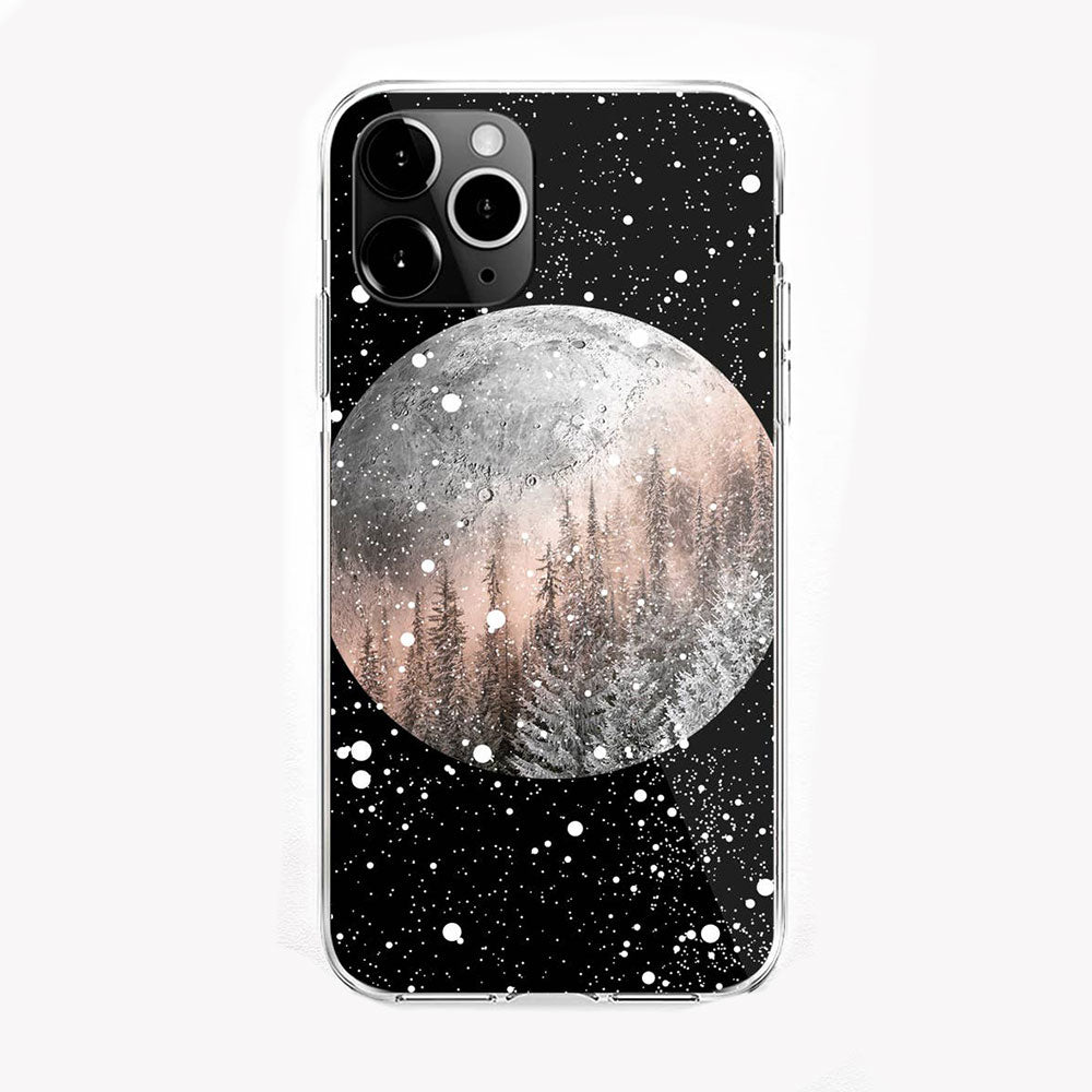 Winter Moon iPhone Case by Onesweetorange
