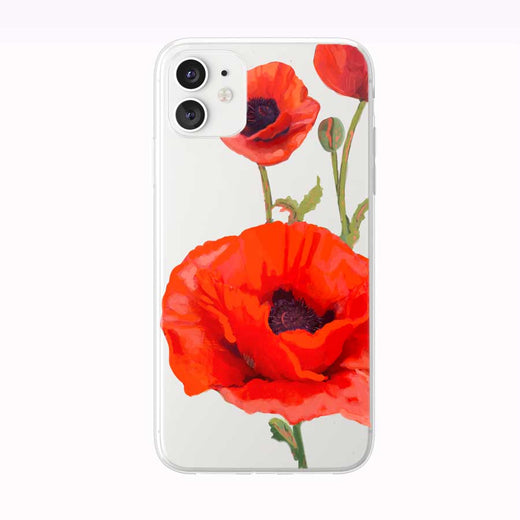 Beautiful Orange Poppies iPhone Case by Tiny Quail