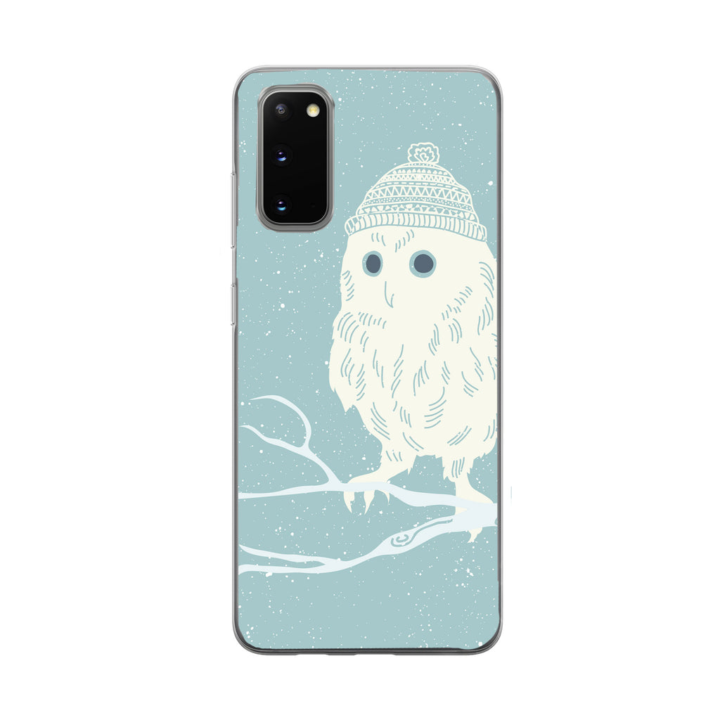 Snow Owl with Hat Samsung Galaxy Phone Case From Tiny Quail