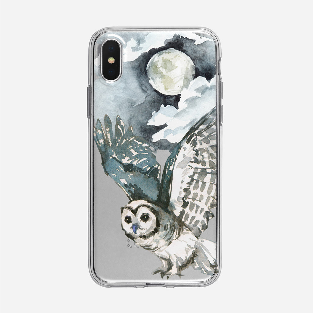Moonlit Forest Owl iPhone Clear Case from Tiny Quail