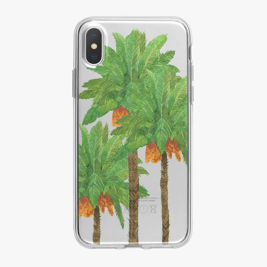 Watercolor Tropical Palm Trees iPhone Case from Tiny Quail