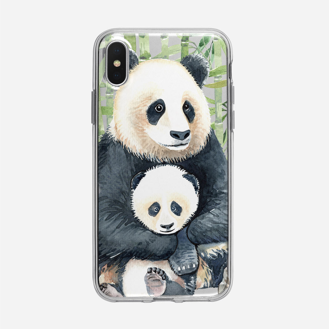 Panda and Cub iPhone Case from Tiny Quail