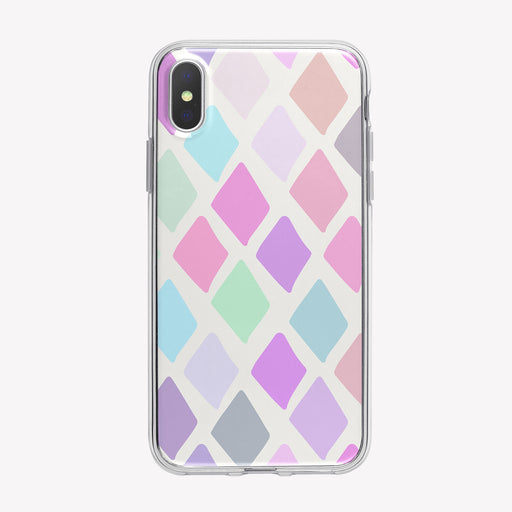 Pastel Diamonds Pattern iPhone Case from Tiny Quail