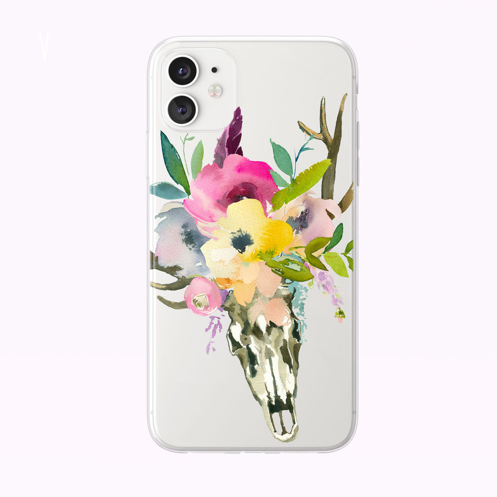 Pastel Steer Skull iPhone case from Tiny Quail