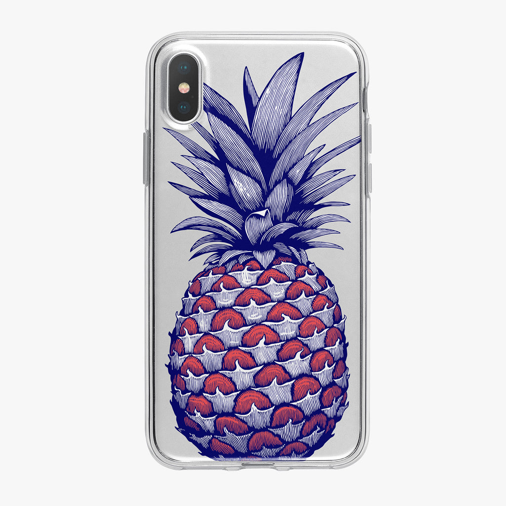 Patriotic Pineapple with Stars iPhone Case by Tiny Quail