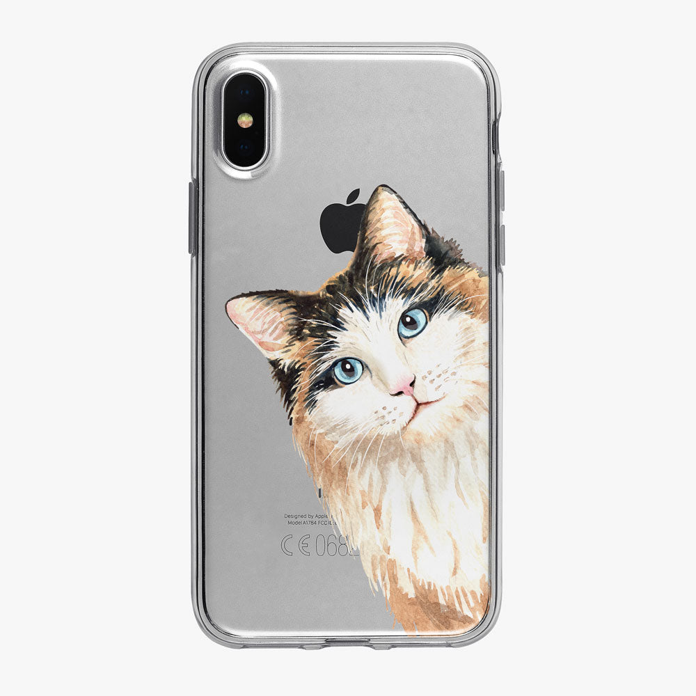 Cat Philosophy Peeking Calico iPhone Case from Tiny Quail