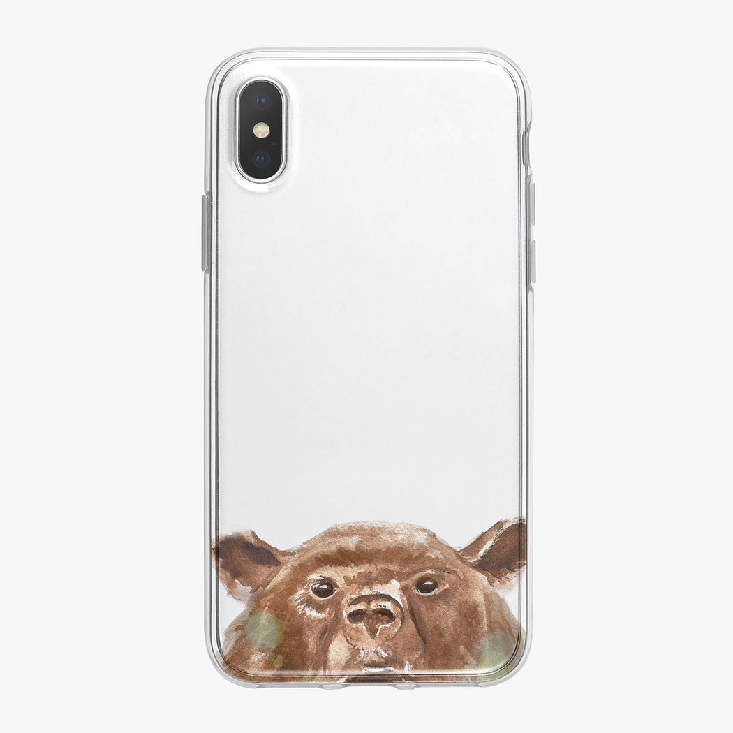 Peeking Bear Designer iPhone Case From Tiny Quail