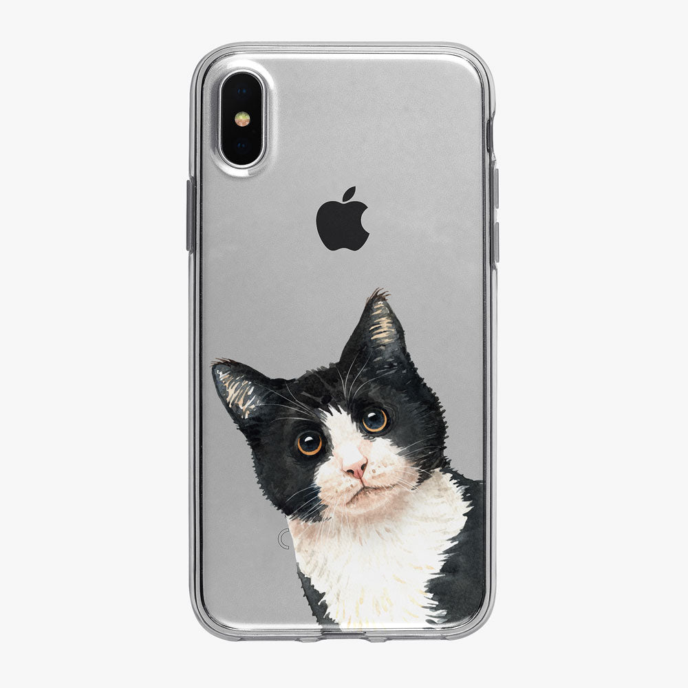 Cat Philosophy Peeking Kitty iPhone Case from Tiny Quail