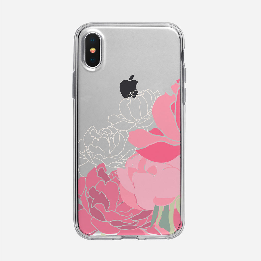 Pretty in Pink Peonies iPhone Case from Tiny Quail