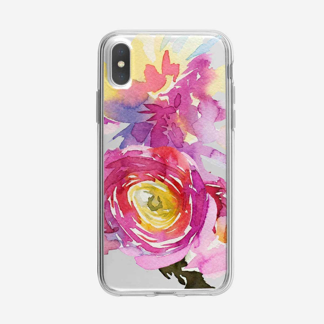 Abstract Peonie Floral iPhone Case From Tiny Quail