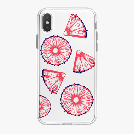 Patriotic Pineapple Slices iPhone Case by Tiny Quail