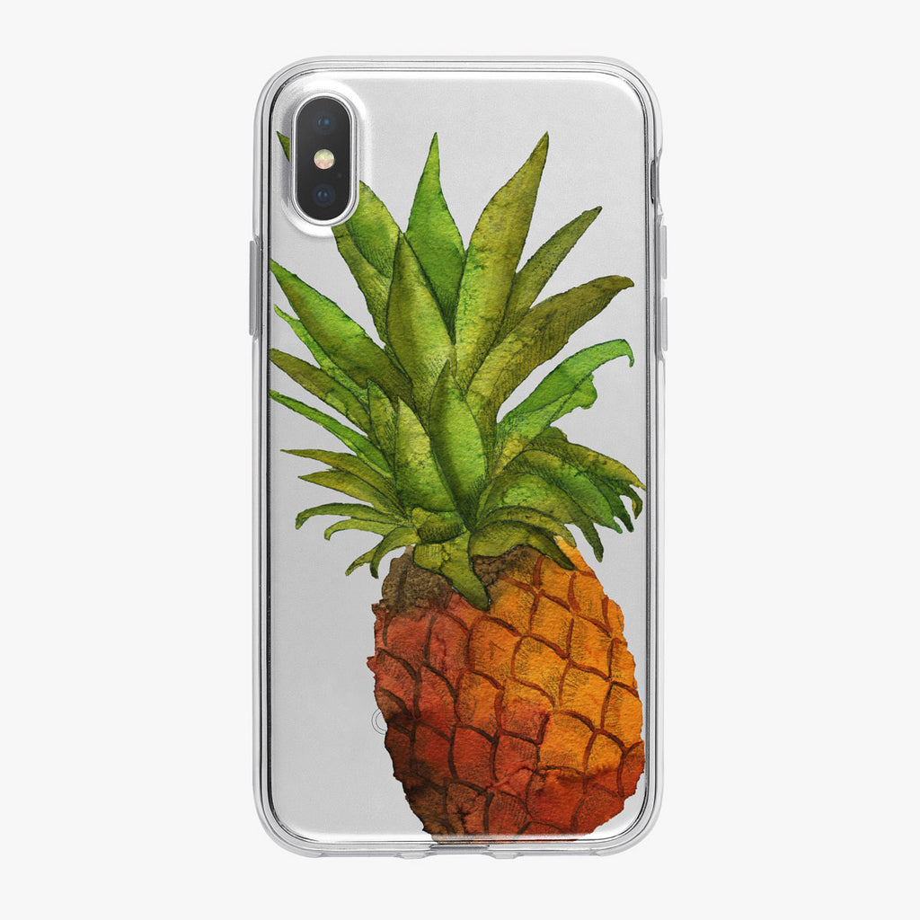 Bright Tropical Pineapple iPhone Case from Tiny Quail