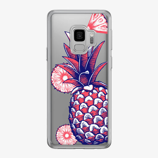 Patriotic Pineapple with Red Slices Samsung Galaxy Phone Case by Tiny Quail