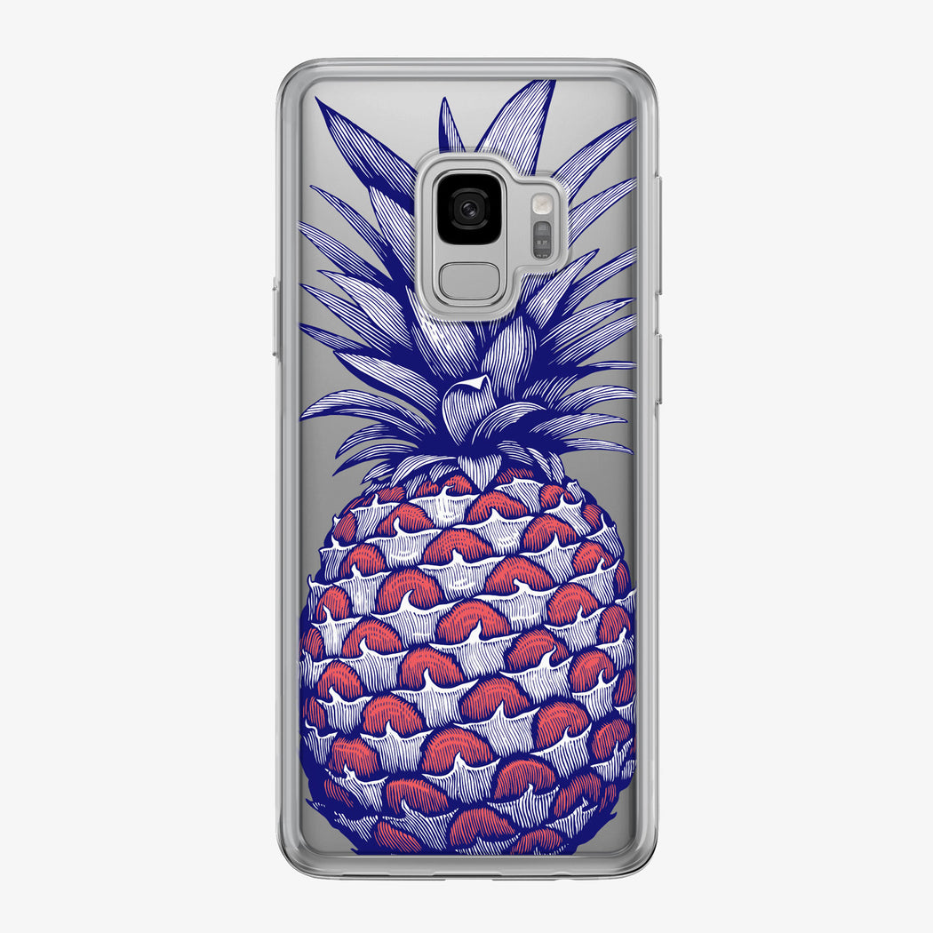 Patriotic Pineapple with Stars Samsung Galaxy Phone Case by Tiny Quail