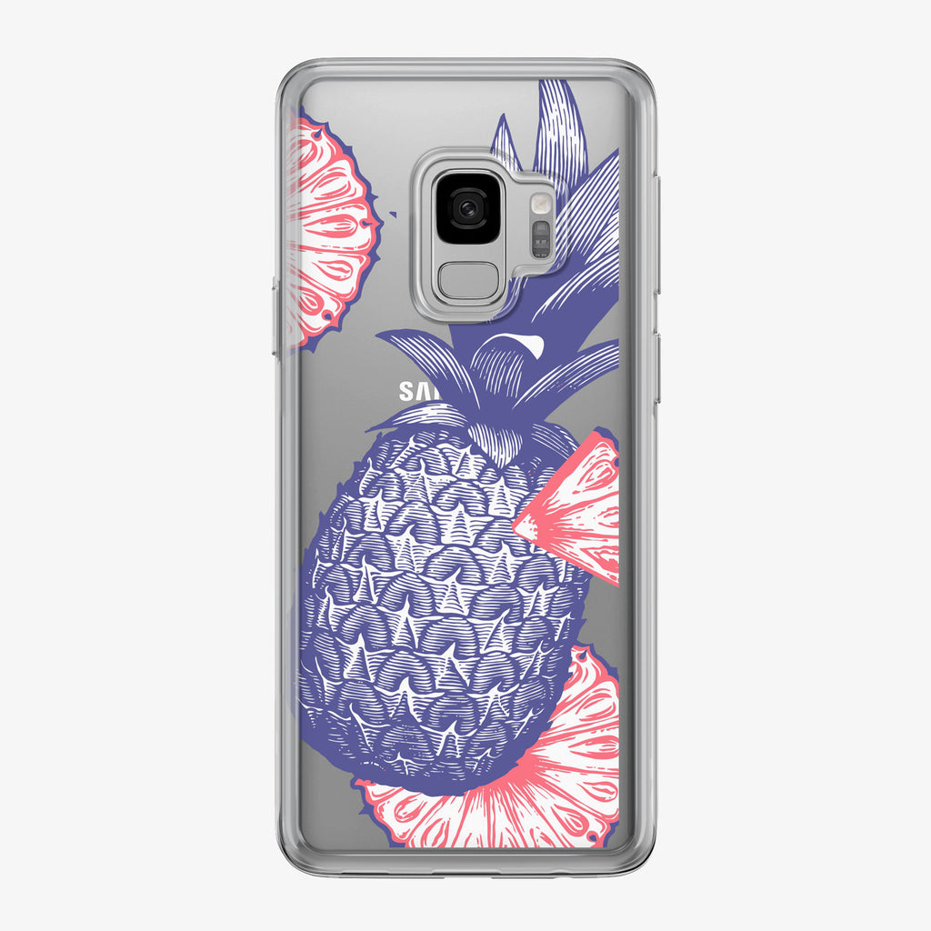 Blue Patriotic Pineapple Samsung Galaxy Phone Case by Tiny Quail