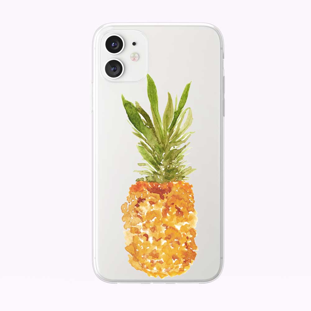 Summery Tropical Pineapple Clear iPhone Case from Tiny Quail
