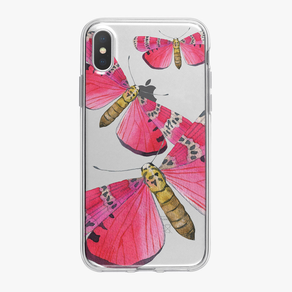 Bright Pink Butterflies iPhone Case by Tiny Quail