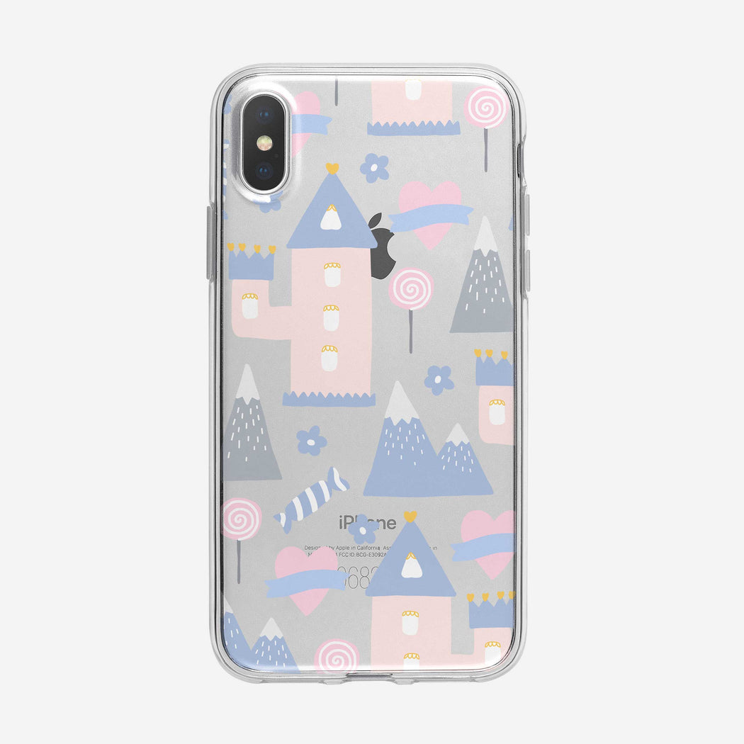 Magical Pastel Land Pattern iPhone Case from Tiny Quail