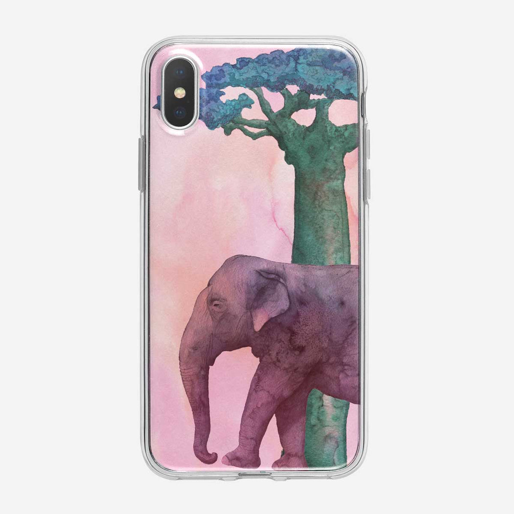PInk Elephant iPhone Case from Tiny Quail