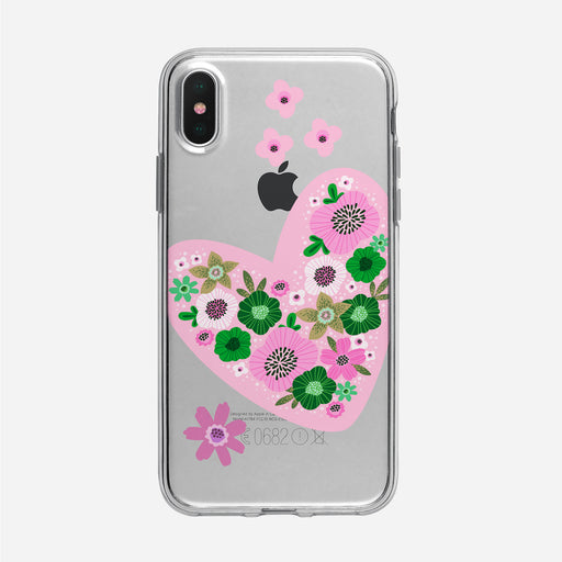 Pink Graphic Heart iPhone Case From Tiny Quail