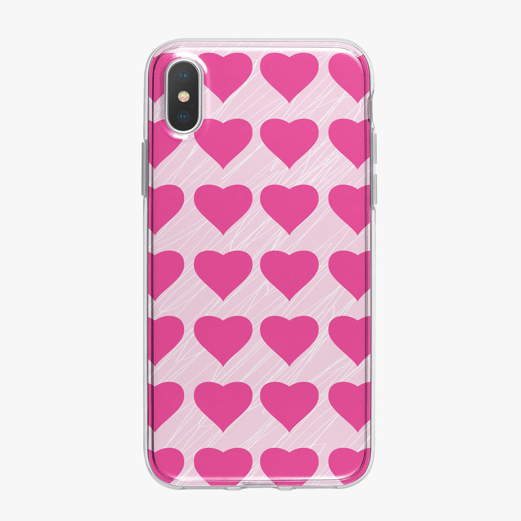 Cute Pink Hearts Designer iPhone Case From Tiny Quail