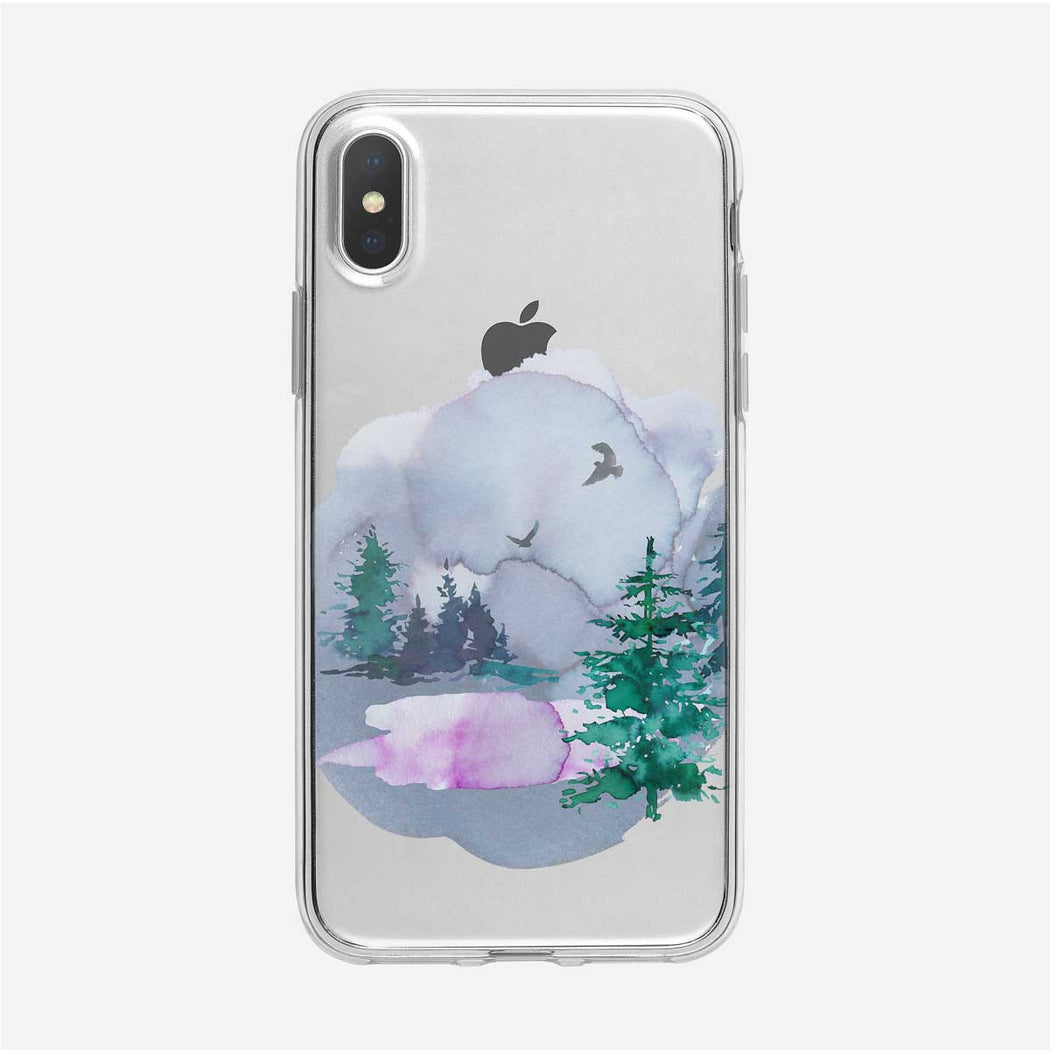 Reflective Forest Pond iPhone Case from Tiny Quail