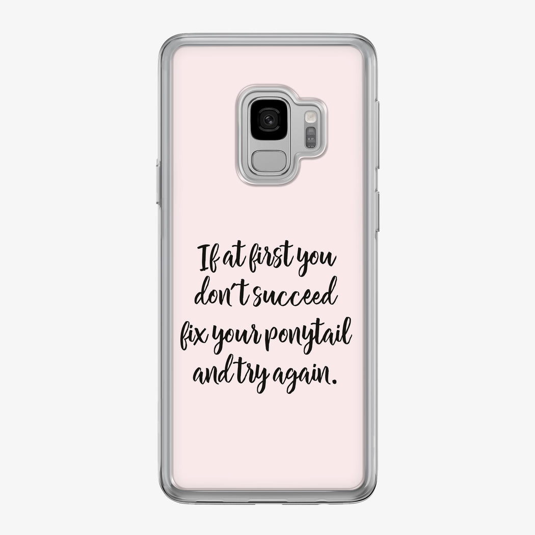 Fix Your Ponytail Samsung Galaxy Fitness Phone Case by Tiny Quail