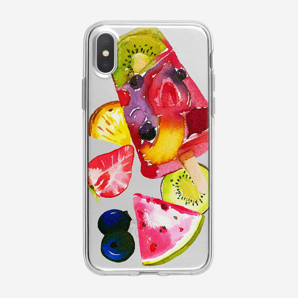 Fruity Popsicle Clear iPhone Case from Tiny Quail