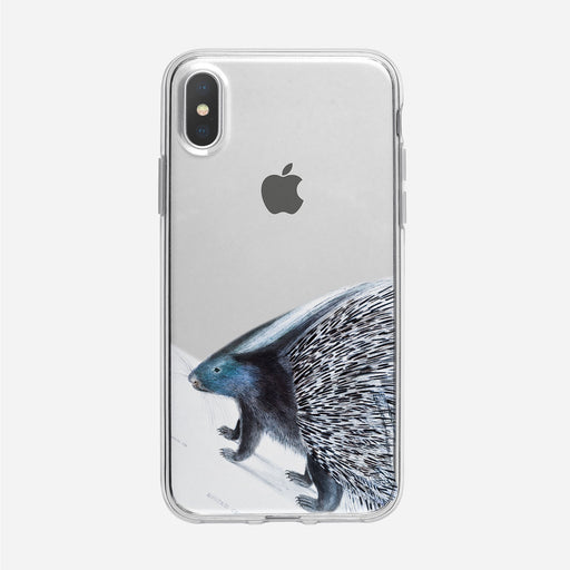 Vintage Blue Porcupine iPhone Case from Tiny Quail
