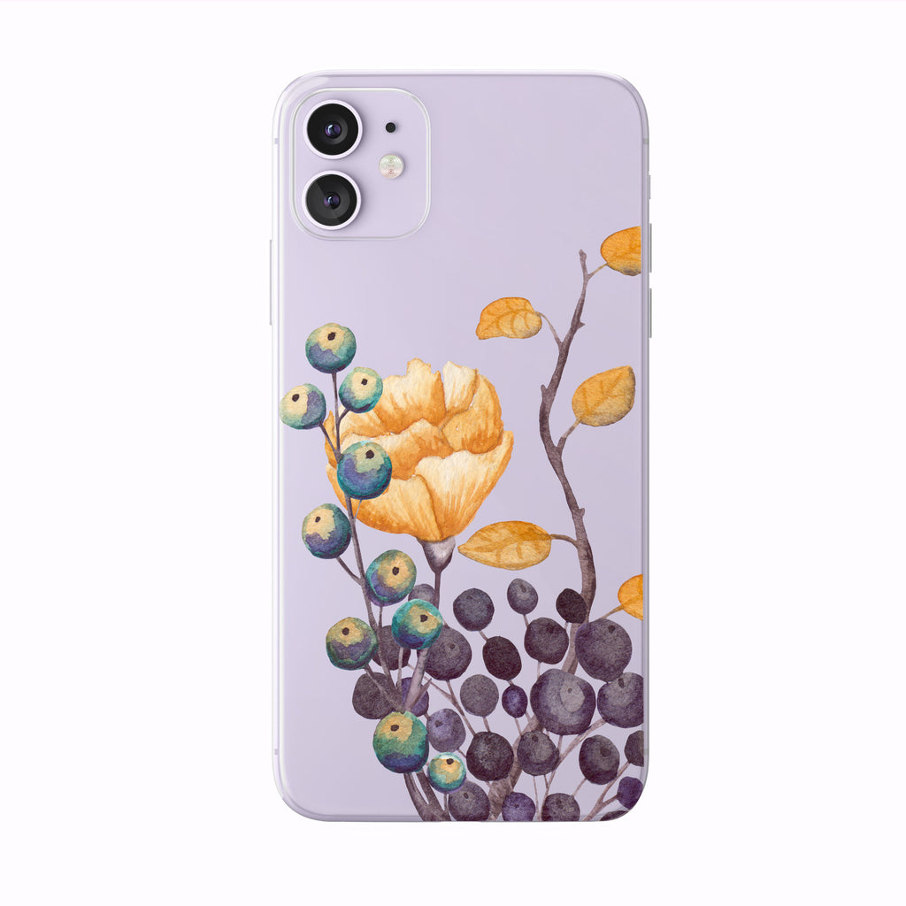 Pretty Fall Foliage Berries on purple iPhone Case from Tiny Quail