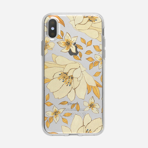 Illustrated Floral Pattern Clear iPhone Case from Tiny Quail