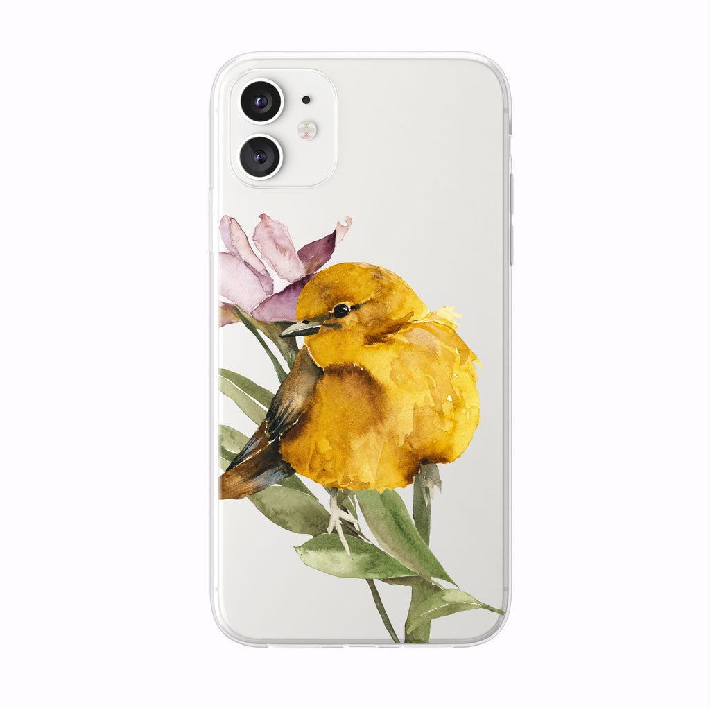 Pretty Yellow Bird iPhone Case from Tiny Quail
