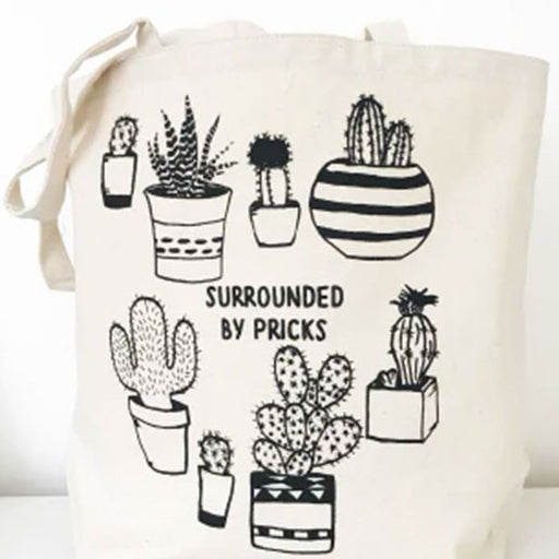 Surrounded by Pricks Farmers Market Funny Tote From The Coin Laundry