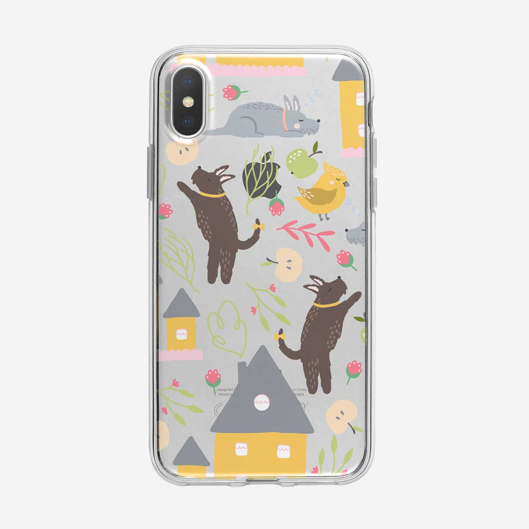 Puppy Playtime Pattern iPhone Case from Tiny Quail
