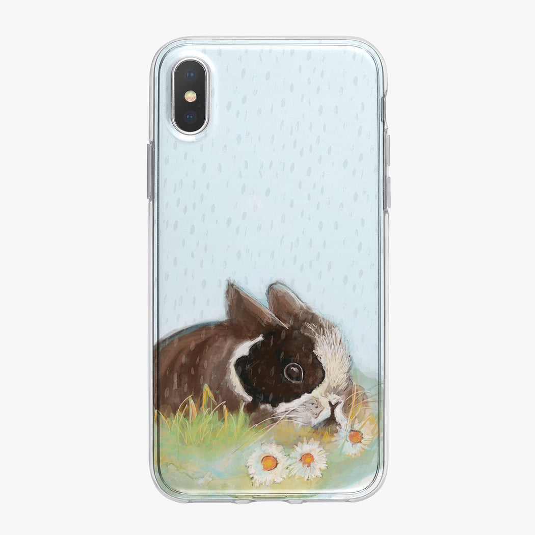 Rainy Day Bunny iPhone Case From Tiny Quail