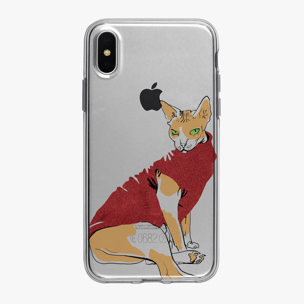 Cat Philosophy Red Sweater iPhone Case from Tiny Quail