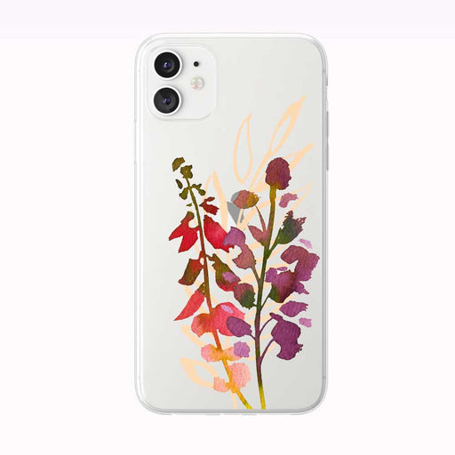 Bold Beautiful Floral Stems iPhone Case from Tiny Quail