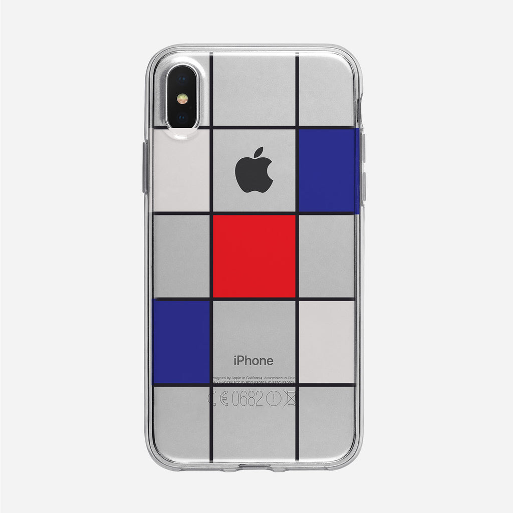 Modern Multicolored Checked Clear iPhone Case from Tiny Quail