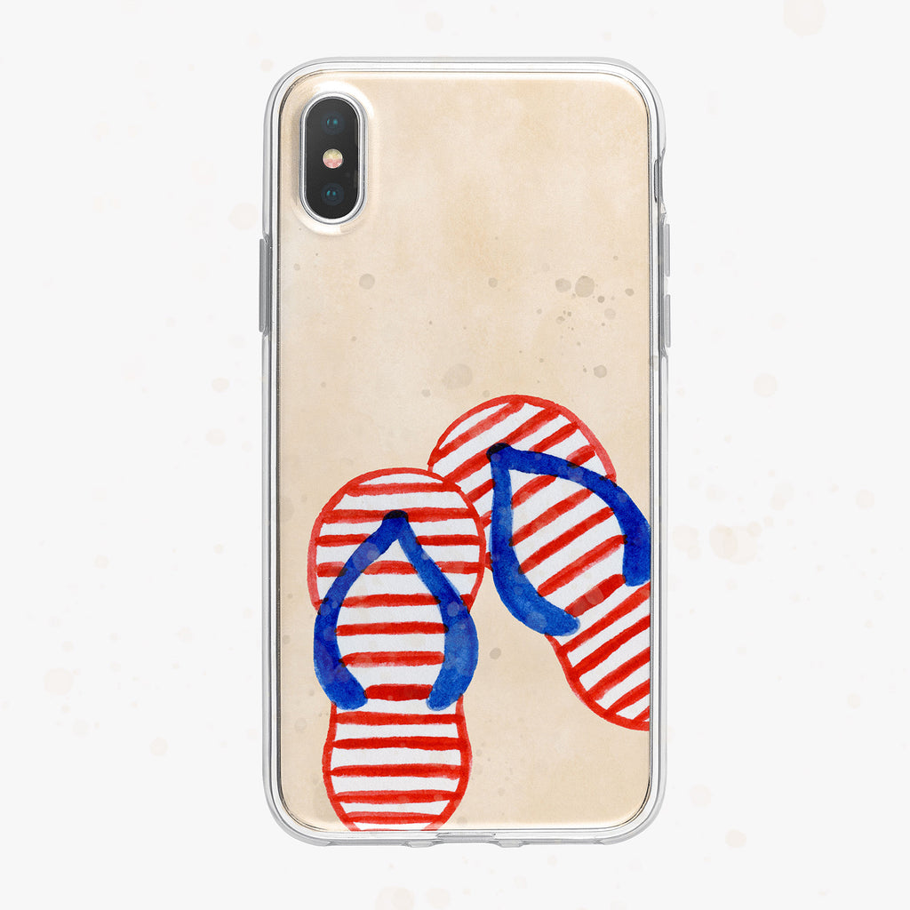 Patriotic Flip-Flops iPhone Case by Tiny Quail
