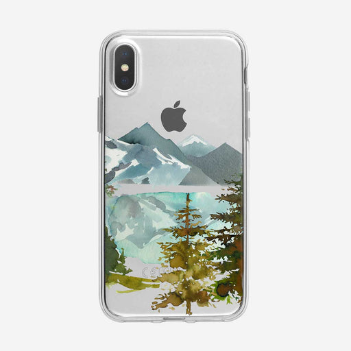 Reflective Forest Lake iPhone Case from Tiny Quail