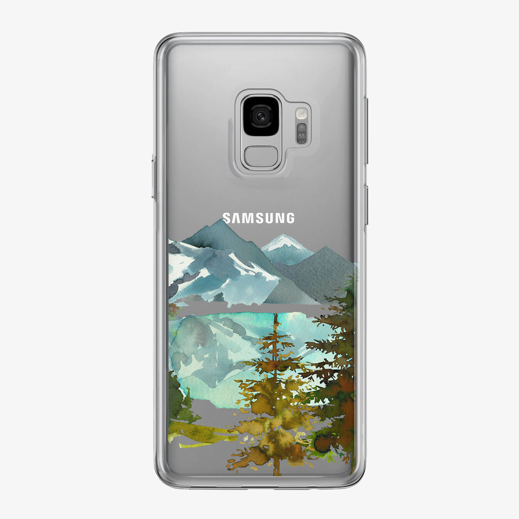 Reflective Forest Lake Samsung Galaxy Phone Case from Tiny Quail