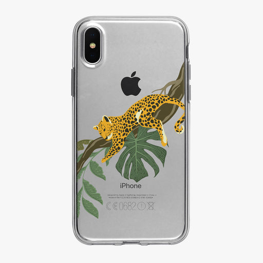 Jungle Leopard in a Tree Clear iPhone Case from Tiny Quail
